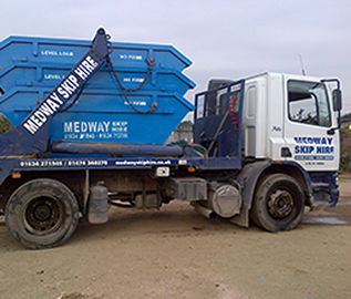 image of a skip lorry